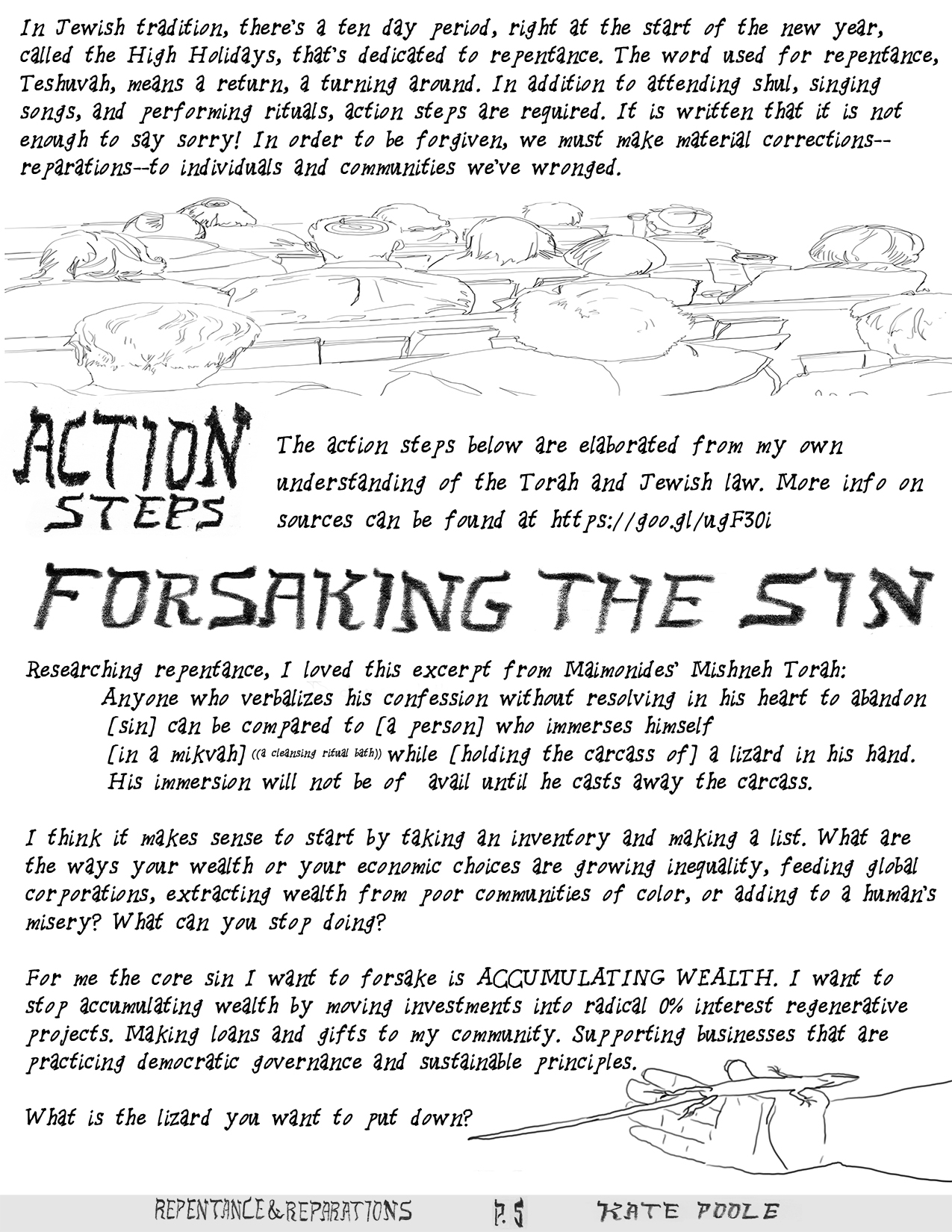 Action steps. First, forsaking the sin.